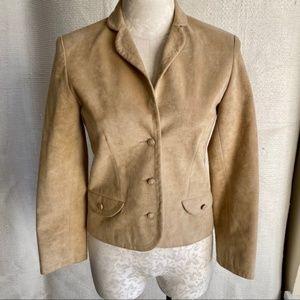 Vintage 70s XS Ultrasuede Leather Blazer Jacket